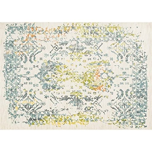 Loloi Rugs LYONHLZ14IVSL3952 Lyon Collection Contemporary Area Rug, 3-Feet 9-Inch by 5-Feet 2-Inch, Ivory/Slate