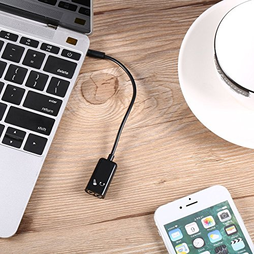 free shipping 3.5mm Mobile Phones Headphone Microphone Stereo Audio Splitter Adapter Cable For Iphone For Samsung Black Easy to Take Along
