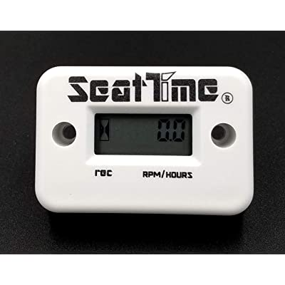 Seat Time Inductive Hour Meter/Tachometer For Dirt Bike ATV Enduro Dual Sport Motorcycle waterproof - White: Automotive