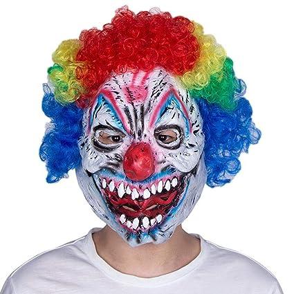 LEIU Sonrisa Asesino Payaso Halloween Festival Fantasma Máscara de Terror Fiesta Bola Divertida Máscara de Payaso