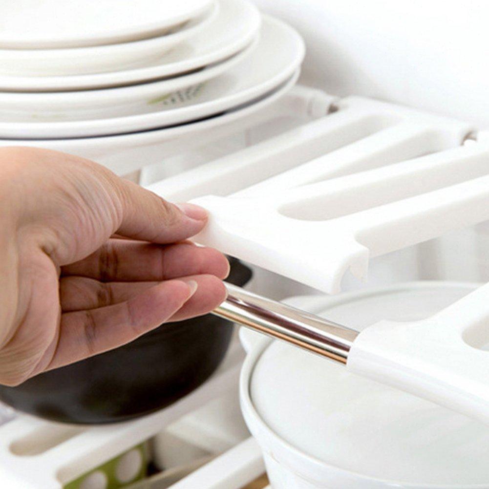 Verstellbarer ausziehbar Organizer Multi Zweck Küche Organizer unter ...
