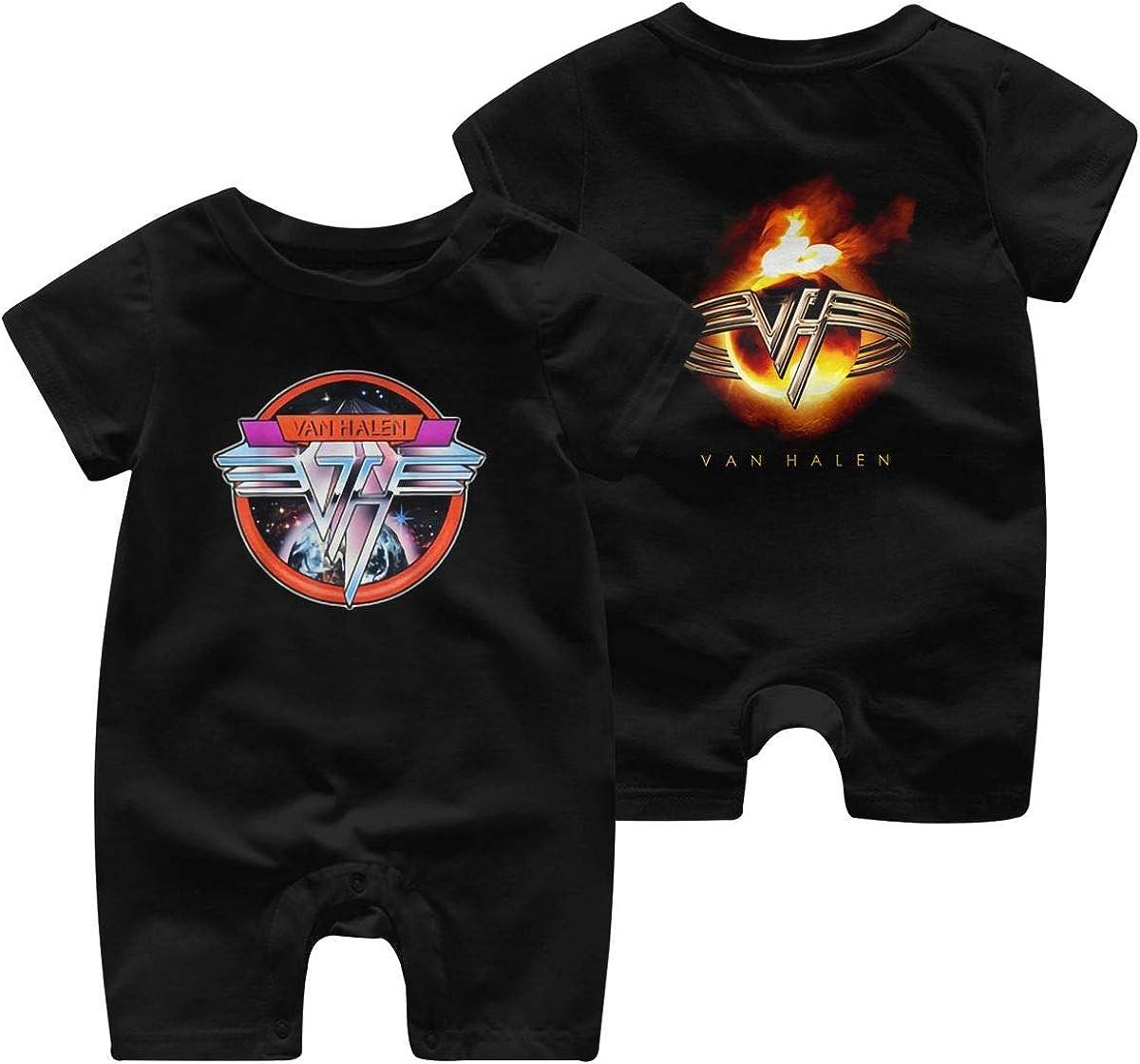 Amazon Com Baby Van Halen Band Eddie Fire Burn Logo Short Sleeve Jumpsuit Clothing