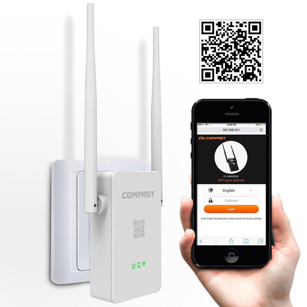 Repetidor WiFi, Meco Amplificador Wi-Fi (300 Mbit/s, 2,4 GHz, con Modo Ap/Repetidor Modo de/Router de Modo) WiFi Booster/WiFi Router wlani Range Extender ...