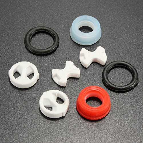 Price comparison product image Pink Lizard 8Pcs Ceramic Disc Silicon Washer Insert Turn Replacement For Valve Tap