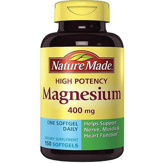 Nature Made High Potency Magnesium 400 Mg - 150 Liquid Softgels: Amazon.es: Salud y cuidado personal