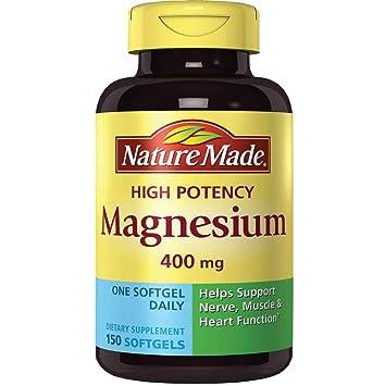 5be49c639 Amazon.com: Nature Made High Potency Magnesium 400 mg - 150 Liquid ...