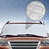 #10: SNAN Car Snow Windshield Cover Sun Shade Extra Thickness with Side Flaps for Small or Midsize Car & CRV