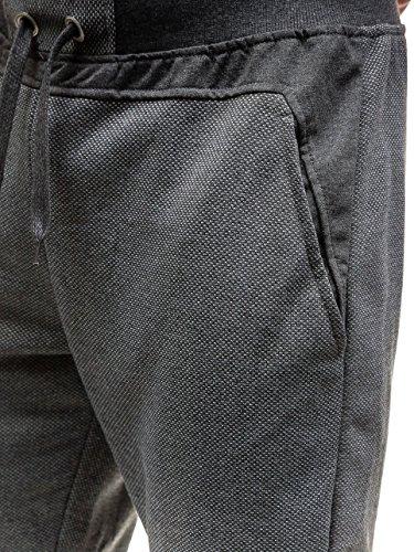 BOLF Hombre Deporte Pantalones Entrenamiento Pantalones Aptitud Jogging Pantalones Jogger 6F6 Men Gris