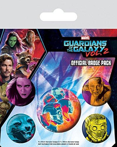 1art1 Guardianes De La Galaxia - Vol. 2, Cosmic, 1 X 38mm & 4 X ...