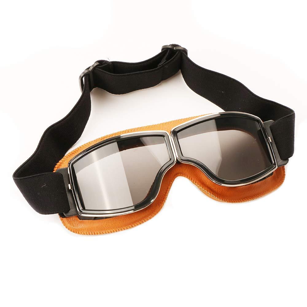 Motorcycle Goggles,Vintage Aviator Motocross Driving Sports Glasses Men Women