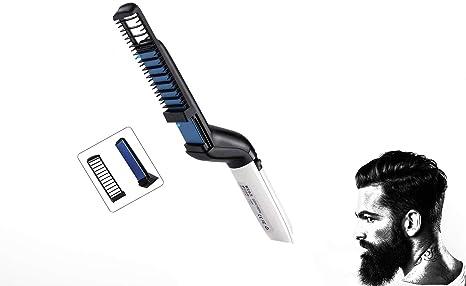 Fer à lisser à barbe Brosse de Lissage pour Homme Rapide