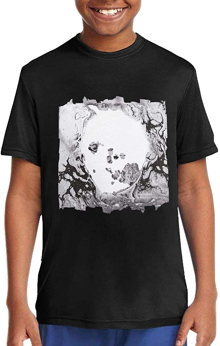 ROWANJEFFERS Radiohead A Moon Shaped Pool Unisex Boys Girls T Shirts Children Clothes Black