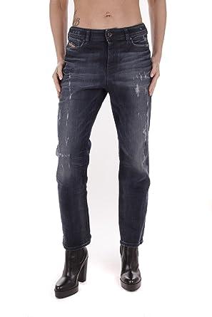 5c726301 Diesel Reen 0844T Stretch Women's Jeans Trousers Regular Straigh (W23/L32,  Blue)