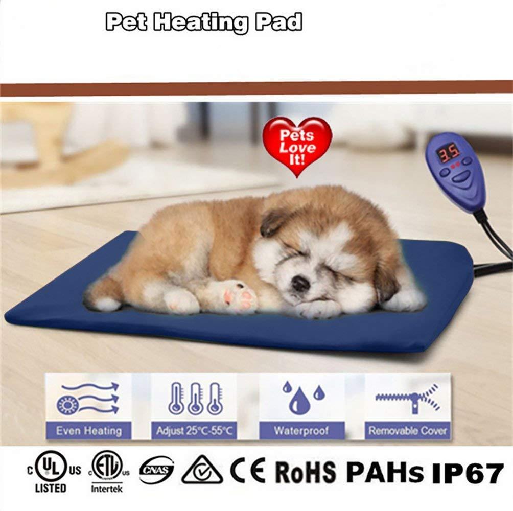Cozywind Mascota Almohadilla Eléctrica Alfombrillas de Calefacción para Perros y Gato Impermeable Mantas de Cama Resistente