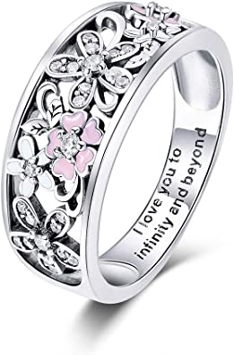Gemmart Jewelry Heart Pink CZ Silver Color Ring Size sterling silver engagement ring