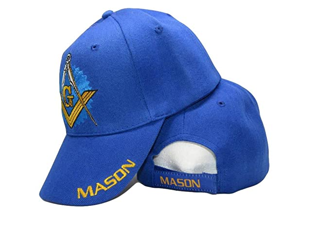 Royal Blue Mason Freemason Masonic Lodge Shadow Ball Cap 3D ... 246be4672fd