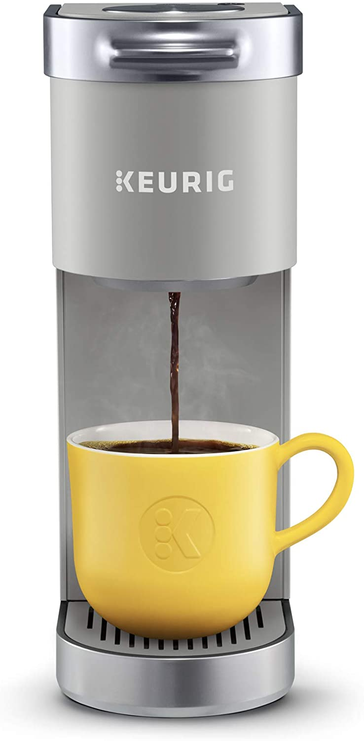 Amazon Com Keurig K Mini Plus Coffee Maker Single Serve K Cup Pod Coffee Brewer Comes With 6 To 12 Oz Brew Size K Cup Pod Storage And Travel Mug Friendly Studio Gray Kitchen Dining