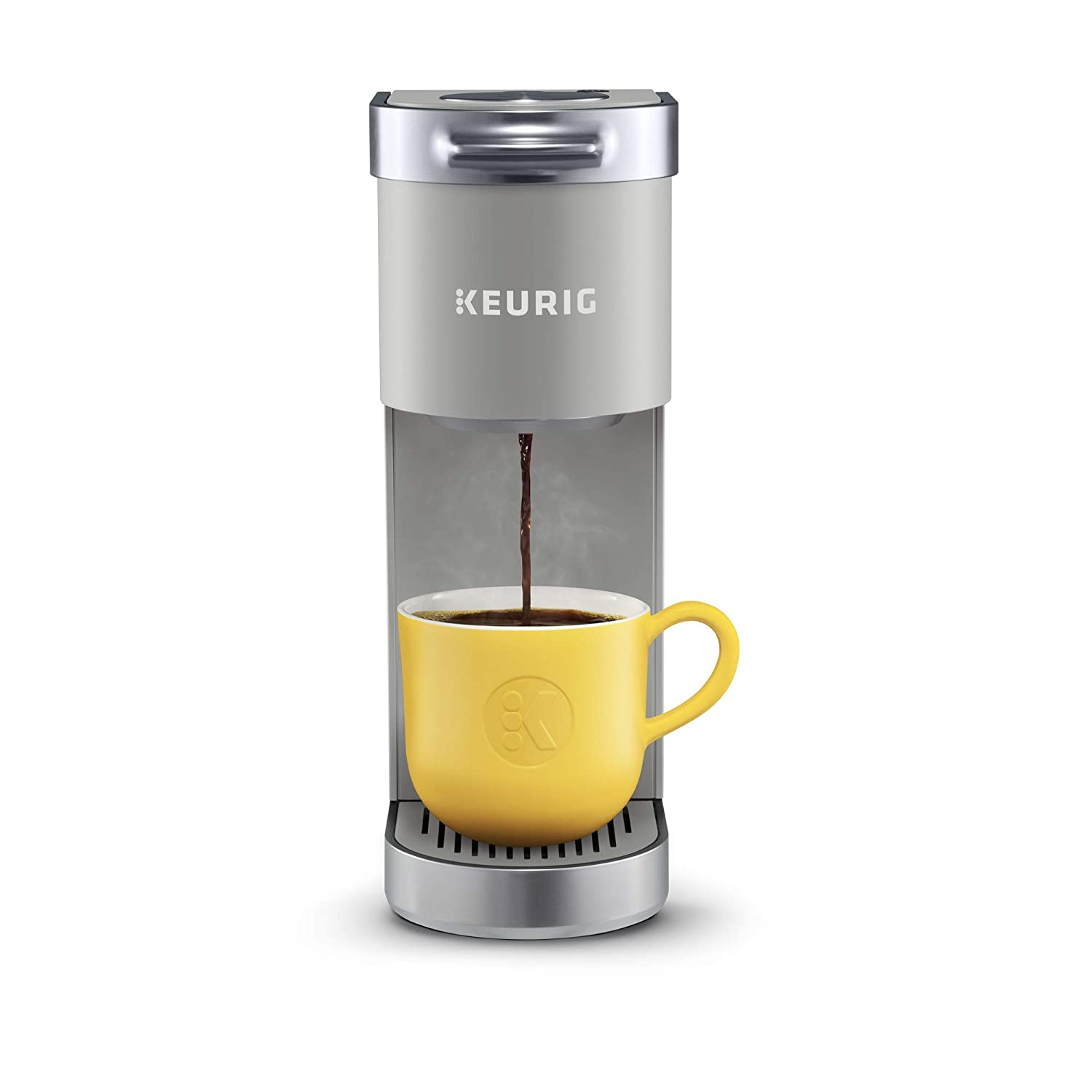 Keurig K-Mini Plus Single Serve Coffee Maker, with 6 to 12oz Brew Size, Stores up to 9 K-Cup Pods,Travel Mug Friendly Studio Gray