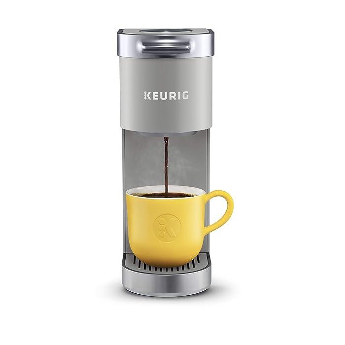 Keurig K-Mini Plus Single Serve Coffee Maker, with 6 to 12oz Brew Size, Stores up to 9 K-Cup Pods,Travel Mug Friendly Studio Gray