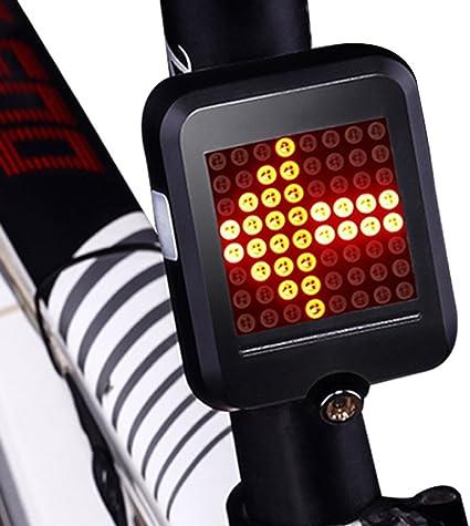 Amazon.com: chfun USB recargable moto luz trasera señales de ...