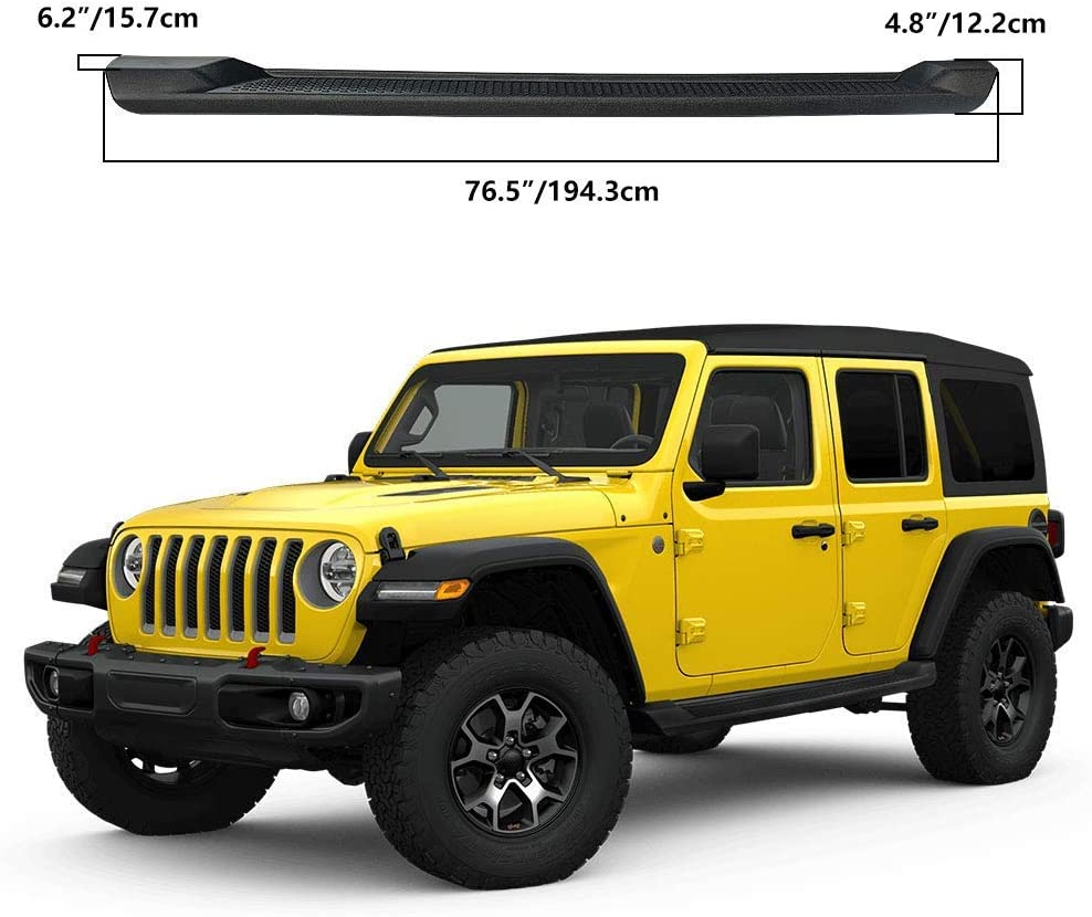 6 inches OE Style Running Boards Nerf Bars Excl JK Model Side Steps Fit for 2018-2020 J-eep Wrangler JL 4-Door Black