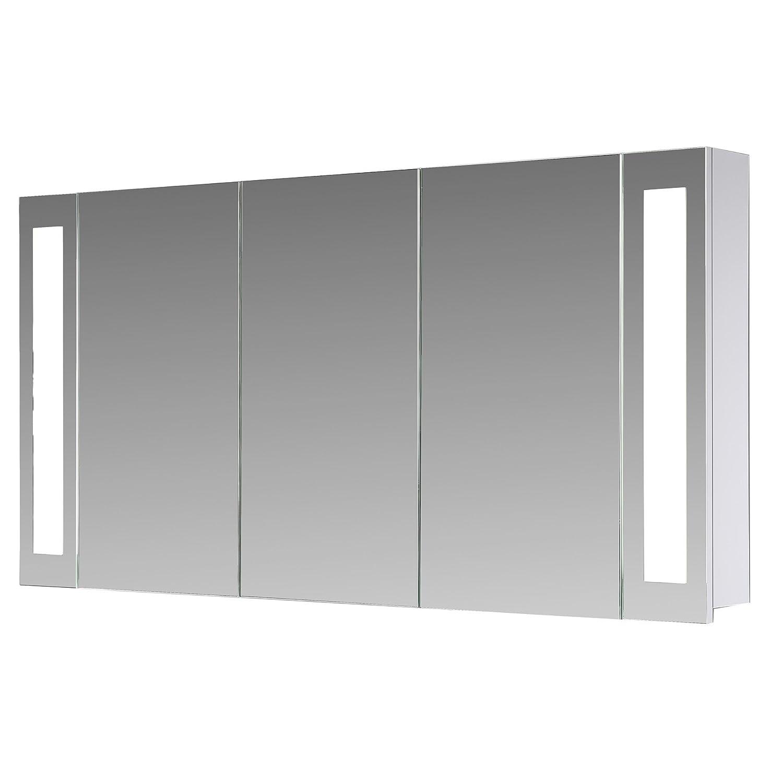 Eurosan 3-türiger Spiegelschrank, Superflach, Integrierte LED ...