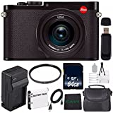 Leica Q (TYP 116) Digital Camera + Replacement Lithium Ion Battery + External Rapid Charger + 64GB SDXC Class 10 Memory Card + SD Card USB Reader + Microfiber Cloth + 49mm UV Filter Bundle