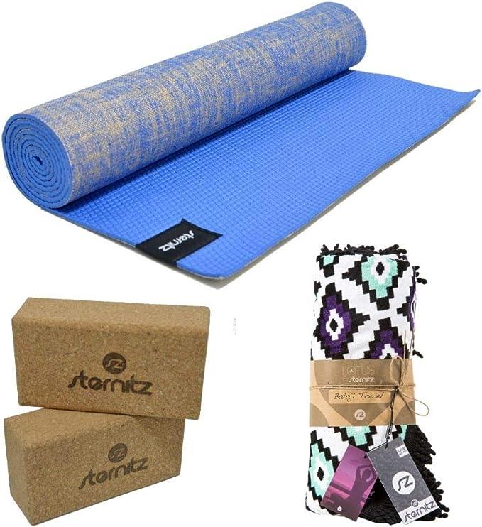 sternitz tapis de yoga ou pilates matelassee ecologique transportable