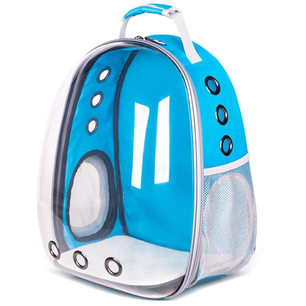 bluee PLDDY Pet Bag Portable Transparent Pet Backpack Space Pet Backpack, 33  27  42 Cm, 7 colors Available Pet Bicycles (color   bluee)