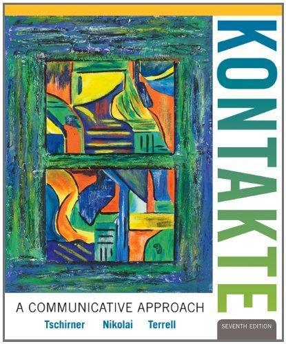 Kontakte 7th edition by Tschirner, Erwin, Nikolai, Brigitte, Terrell, Tracy (2012) Hardcover - Kontakt Player
