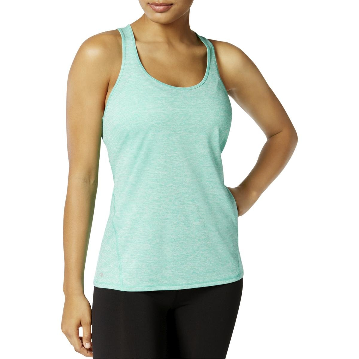 Ideology Womens Yoga Fitnesss Tank Top Green XS