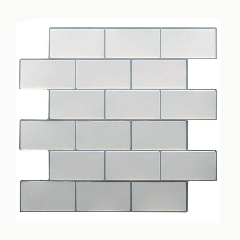 Azulejos Vamos Premium Antimoho Peel and Stick Tile Backsplash,Azulejos de Pared autoadhesivos para Cocina & baño -10.62
