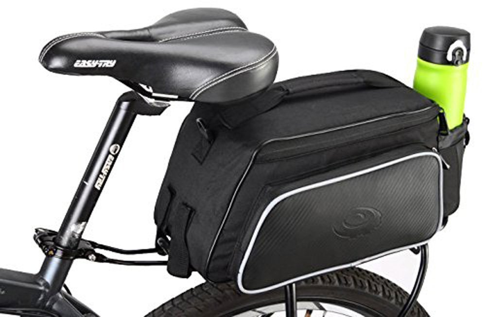 COTEetCI Bicycle Bike Rear Rack Cycling Seat Bag Outdoor Travel Pouch Bicycle Panniers Bags Waterproof 10L Black by COTEetCI