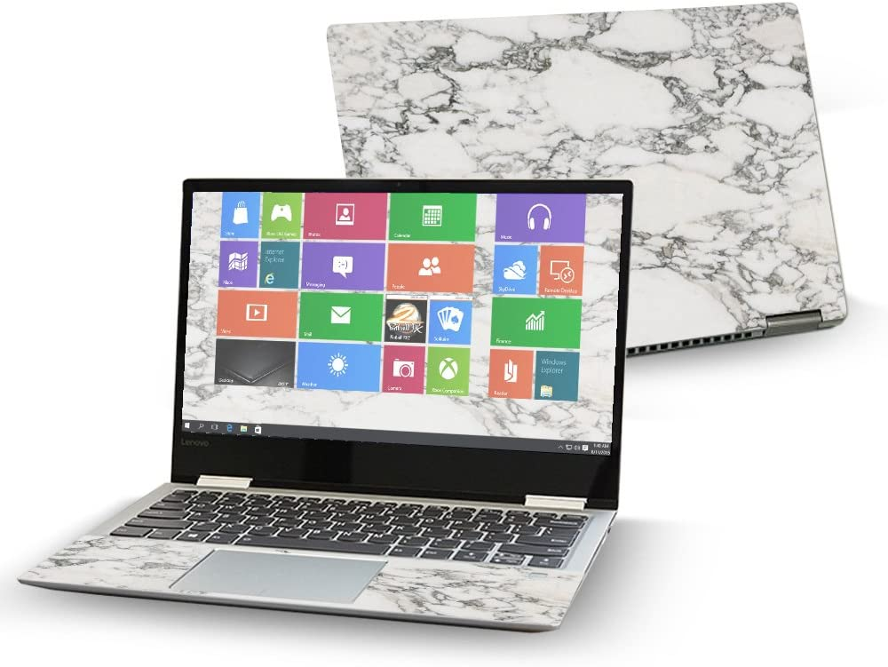 """MightySkins Skin Compatible With Lenovo Yoga 720 13"""" (2017) - White Marble 