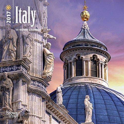 "Italy 2017 Mini Calendar 7"" x 7"""