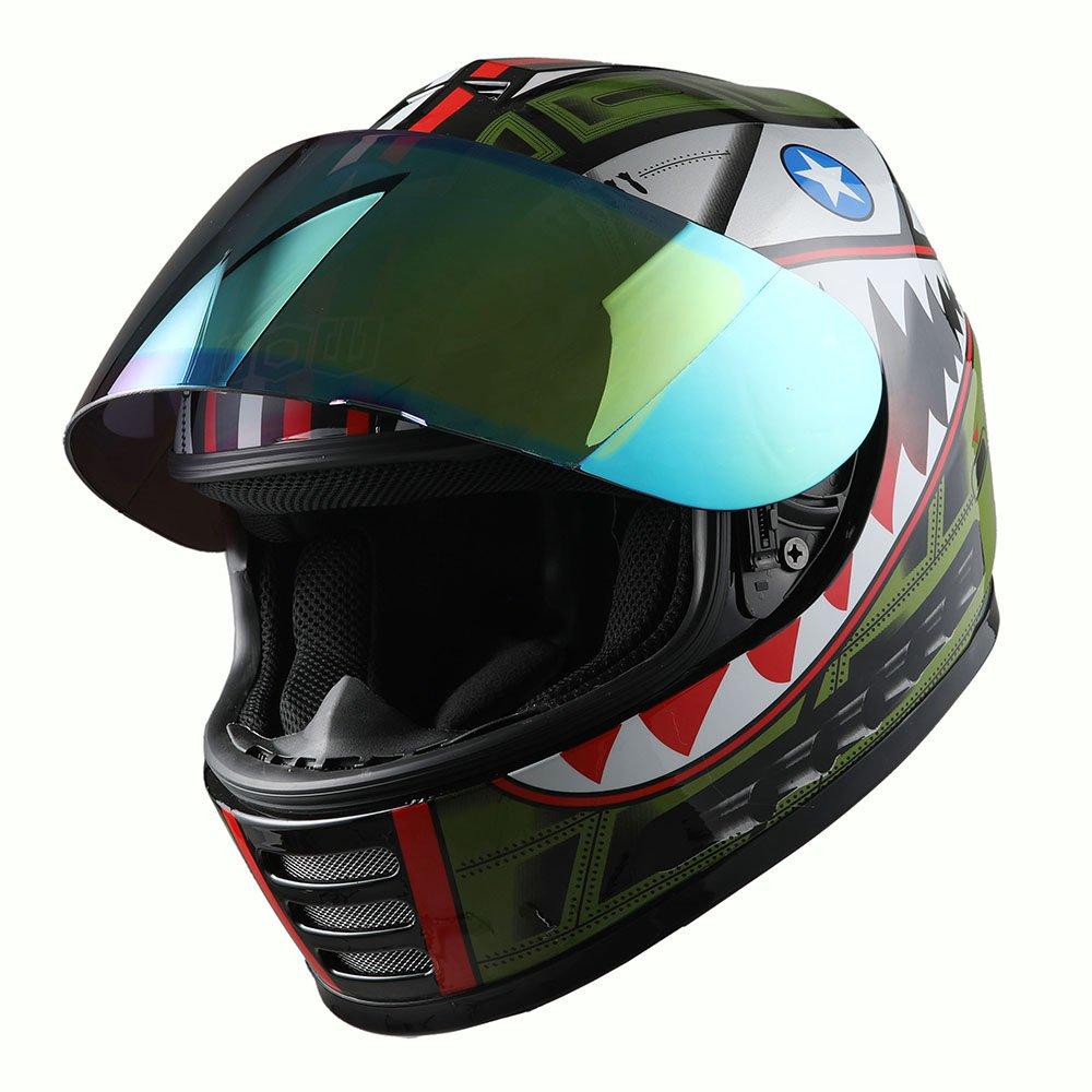 Amazon.com: WOW Casco integral para motocicleta, Street Bike ...