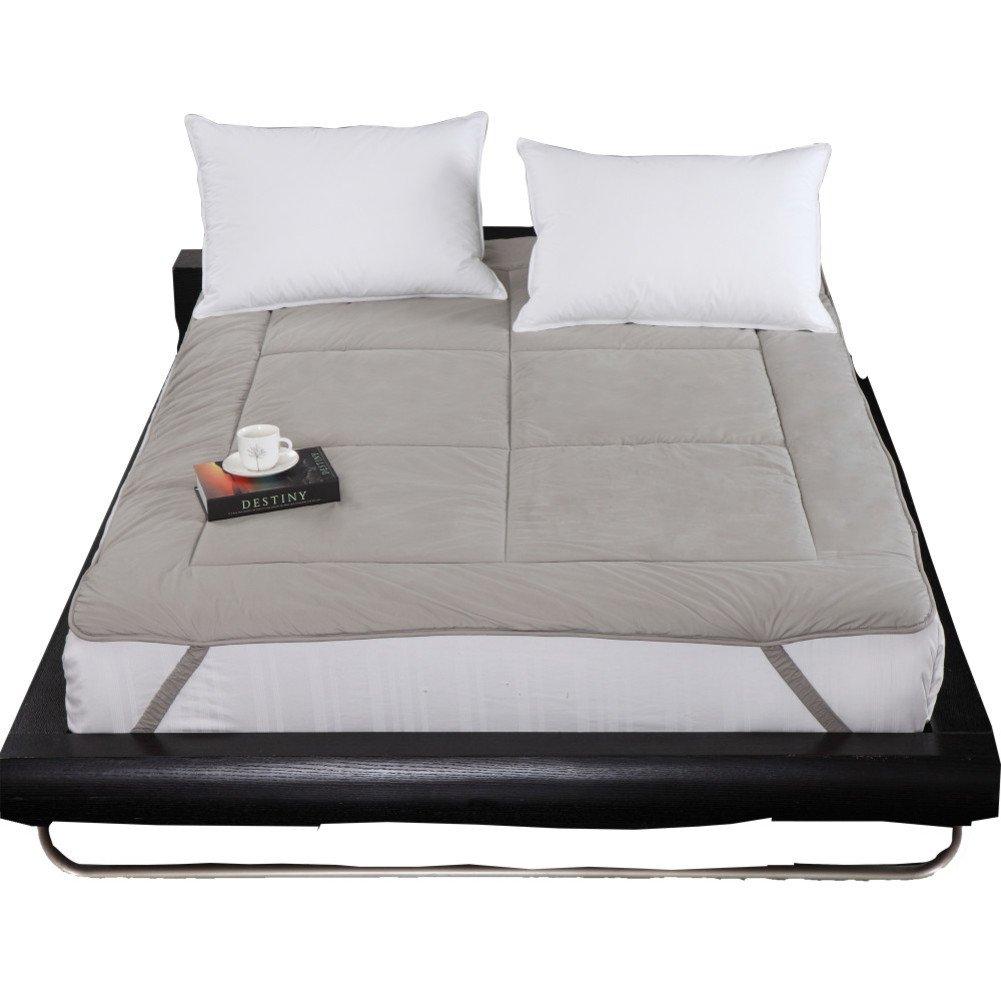 Textile child autumn and winter keep warm cartoon charcoal fiber mattress four seasons mat fold thicken mattress mattress-A Queen1