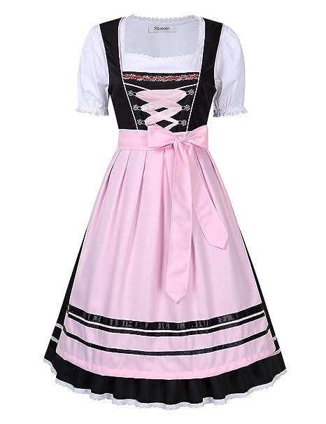 Vestido de traje regional tirolesa, Set 3 Piezas Con Blusa ...