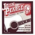 John Pearse 300M 80/20 Bronze Acoustic Guitar Strings (Standard) from KMC Music Inc
