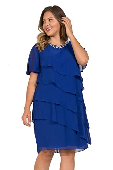 SL Fashion Short Mother of The Bride Dress Plus Size at Amazon ...