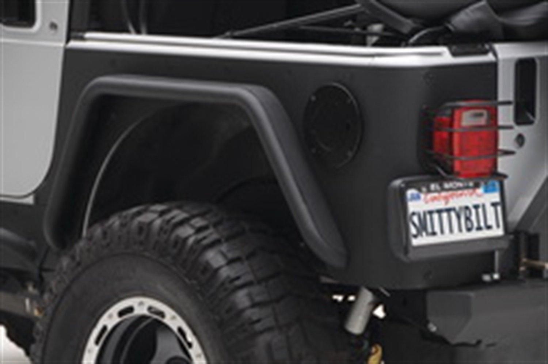 Smittybilt 76876 XRC Textured Black Rear Corner Guards, Pair