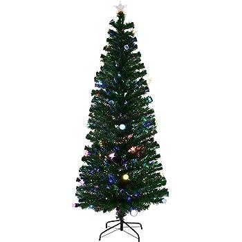 goplus 7ft fiber optic christmas tree pre lit artificial fireworks spruce tree wmulticolor