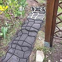 OUNONA Molde de plástico para hacer caminos de hormigón, para jardín, césped o patio, molde de piedra para hacer paseos de hormigón: Amazon.es: Hogar