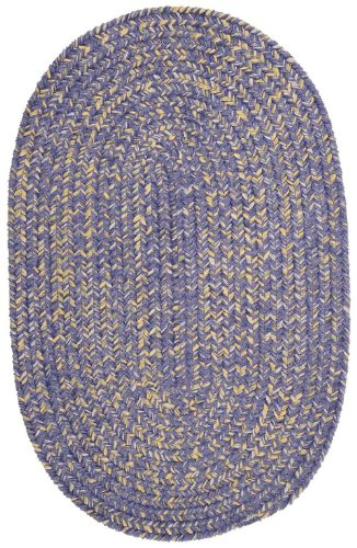 Braided 4'x6' Oval Area Rug in Lavender color from West Isle Collection