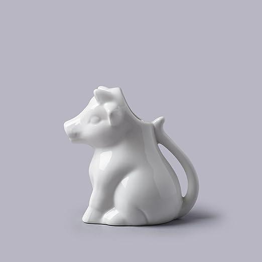 Cks Vaca Leche Jarra cerámica blanca lechera (175Ml): Amazon.es: Hogar