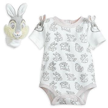 551b6f14bd7b Amazon.com   Disney Thumper Bodysuit and Rattle Layette Set for Baby ...