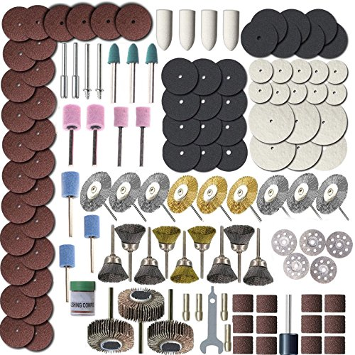 ZFE Rotary Tool Accessory Set - Fits Dremel - Grinding, Sanding, Polishing Pack Of 365Pcs
