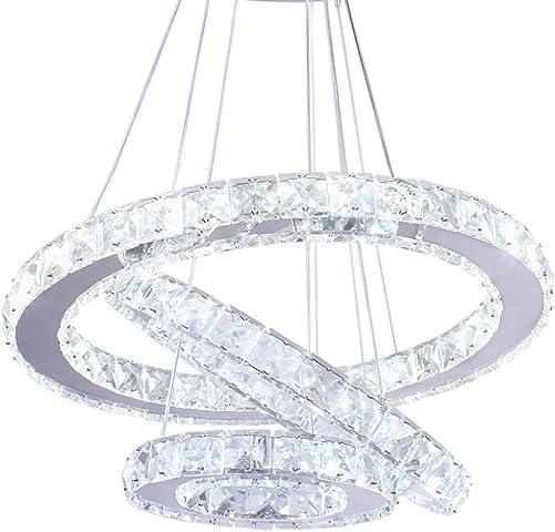 Modern Crystal Chandeliers LED Chandelier Pendant Lights Chandelier Rings Pendant Light Cool White 30 40 50
