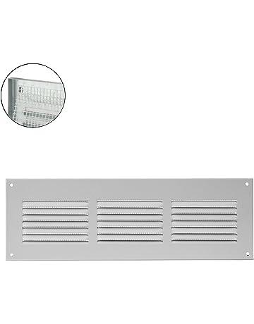 MKK – 18526 – Rejilla de ventilación rejilla de pared cierre metal Canalizado zufluft Mosquitera,