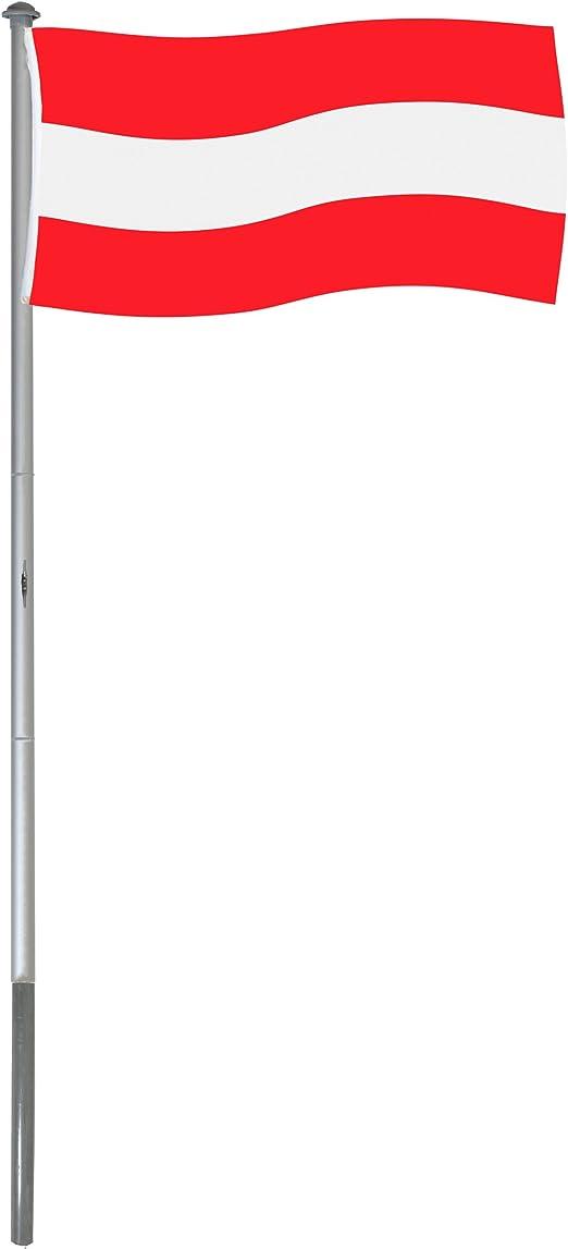 BRUBAKER Mástil Aluminio Exterior 6 m Incluye Bandera de Austria ...